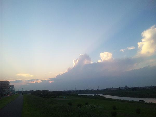 2010年7月10日夕暮 多摩川