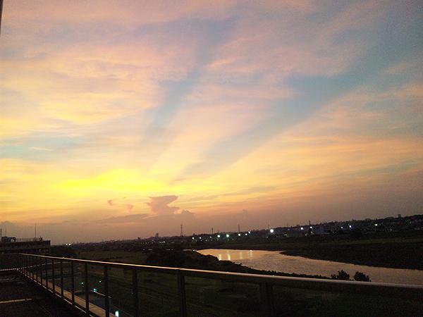 2010年7月20日夕焼 多摩川