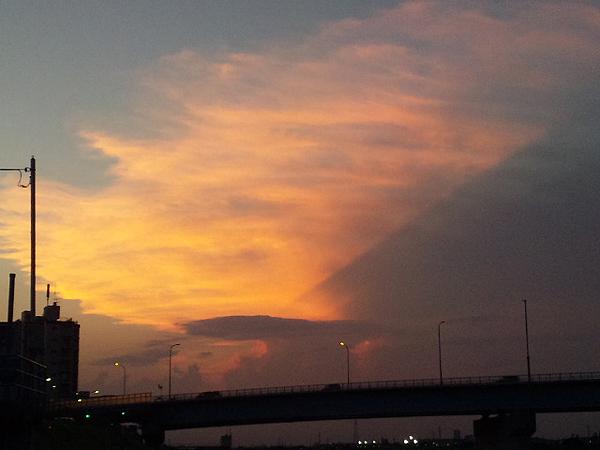2010年8月26日夕焼 多摩川