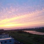 2011年6月7日夕暮 多摩川