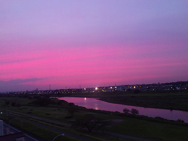 2011年6月15日夕暮 多摩川