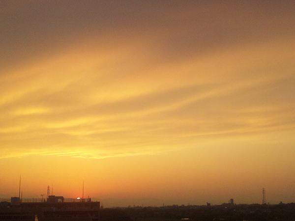 2012年5月13日夕陽 多摩川