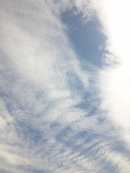 2012年5月16日雲 多摩川