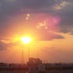 2012年5月16日夕陽 多摩川
