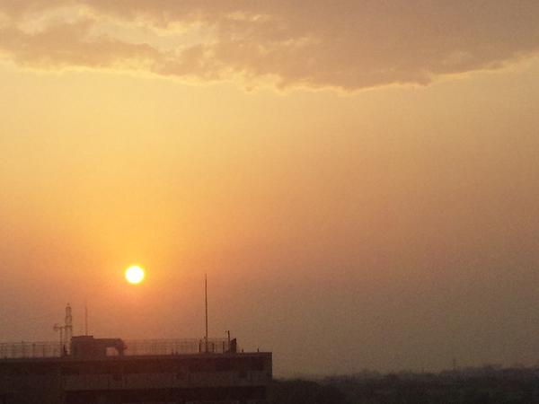 2012年5月17日夕陽 多摩川
