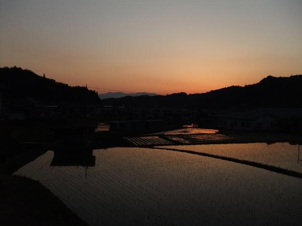 2012年5月19日夕暮 川俣町