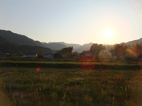 2012年5月19日夕陽 南相馬市