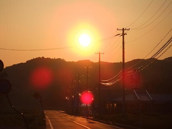 2012年5月19日夕陽 飯舘村