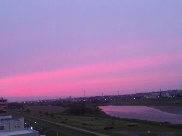 2012年5月20日夕暮れ 多摩川