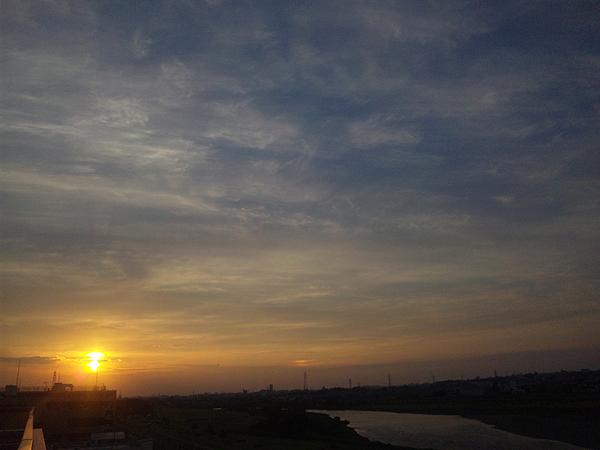 2012年5月21日夕陽 多摩川