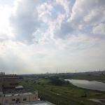 2012年5月28日通り雷雨の後 多摩川