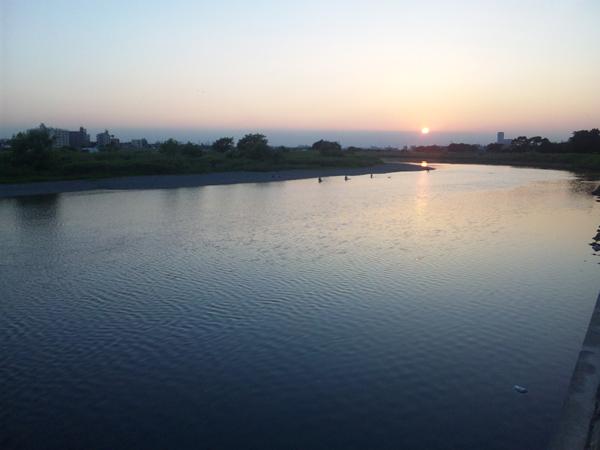 2012年6月14日 夕陽 多摩川
