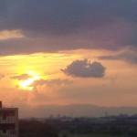 2012年6月17日 夕陽 多摩川