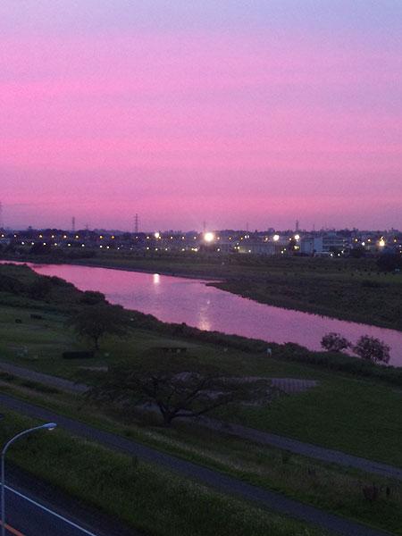 2010年6月15日夕暮 多摩川