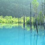北海道キャノンボールツー7日目 2014/7/3 その1 青・青・青。青い池と青い滝