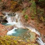 2014/10/31晩秋の趣。西沢渓谷。その2 七ツ釜五段の滝からの続・定例会