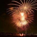 今年の夏の花火大会2つ。市川と多摩川。