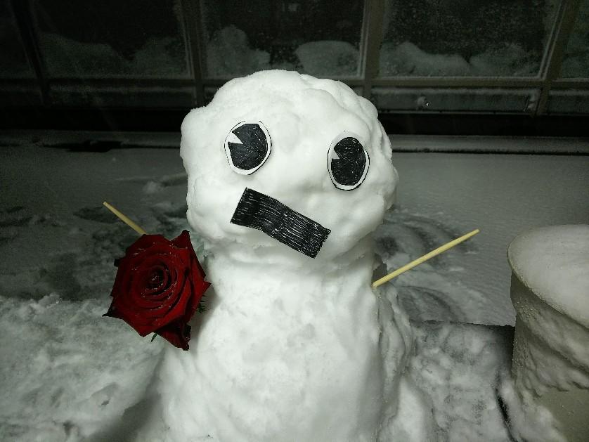 駅カオスが解消されるまで会社で時間つぶしに作った雪だるま